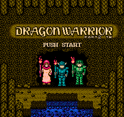 Dragon Warrior II Title Screen