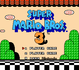 Super Mario Brothers 3 Title Screen