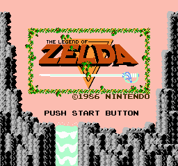 The Legend of Zelda Title Screen