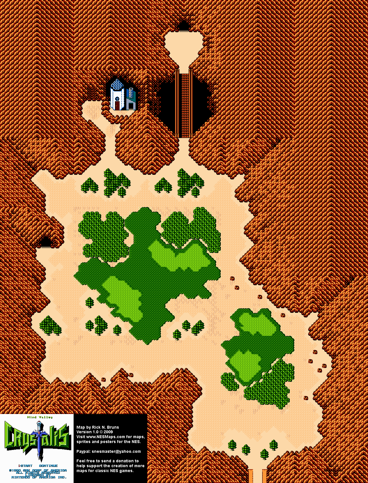 Crystalis - Wind Valley Nintendo NES Map BG