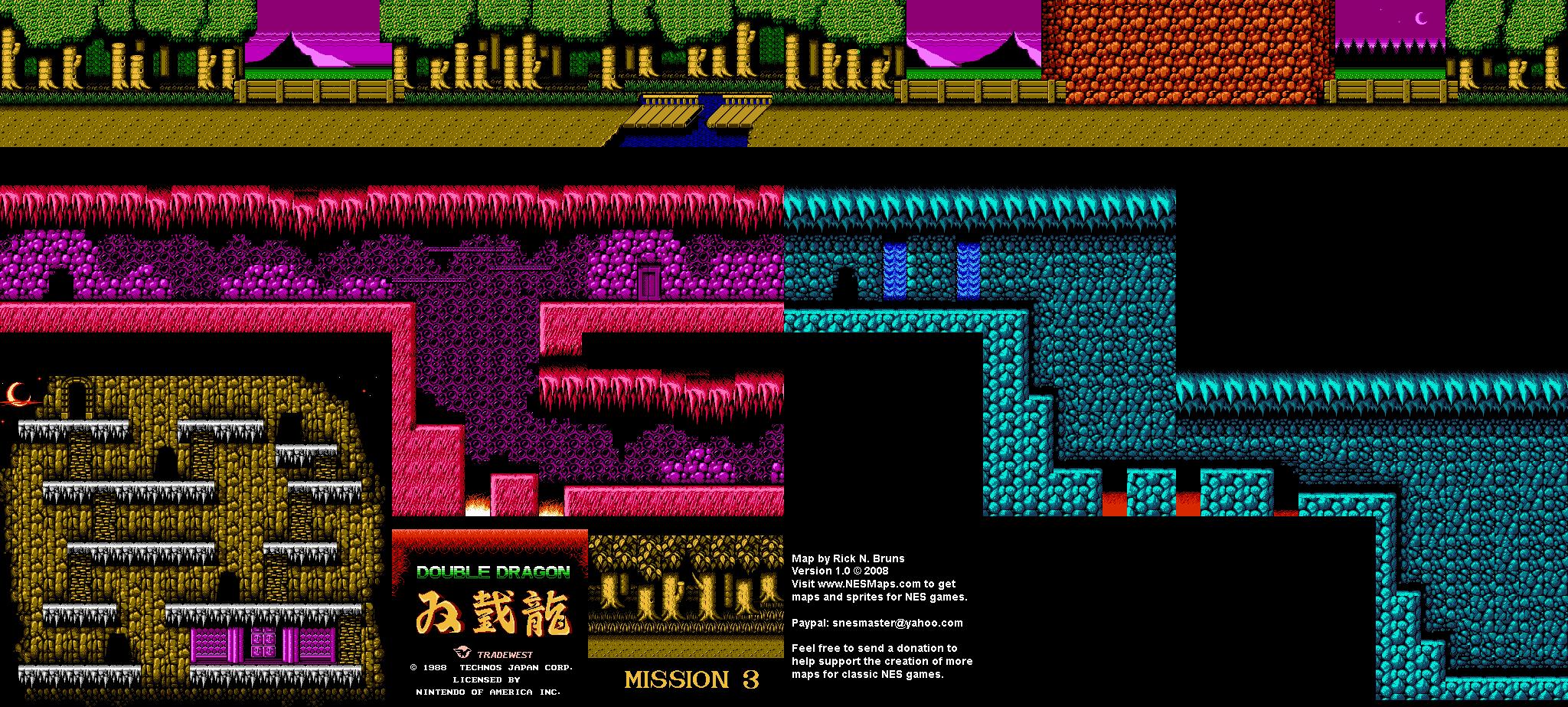 Double Dragon NES Maps