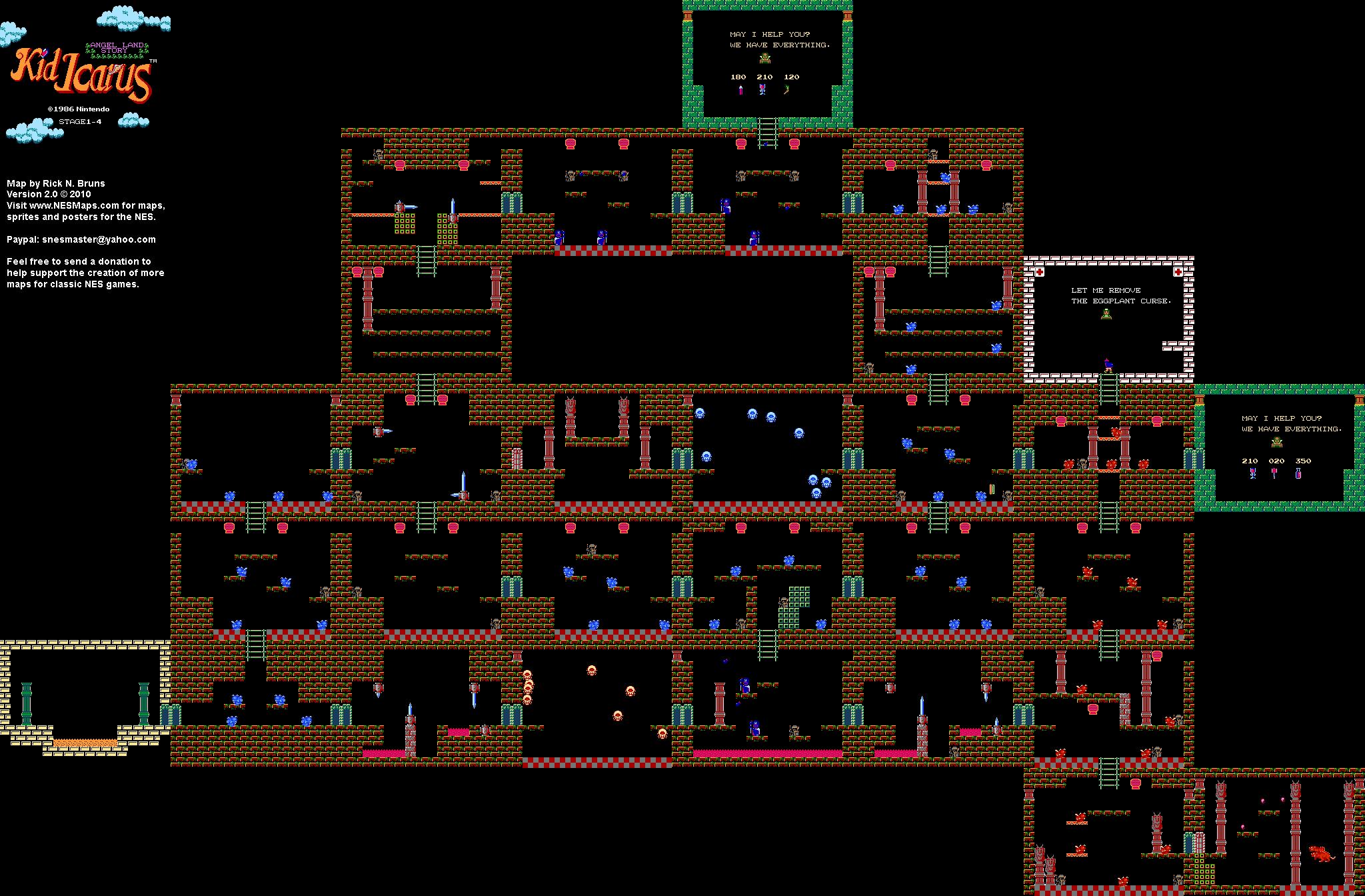 Kid Icarus   Map