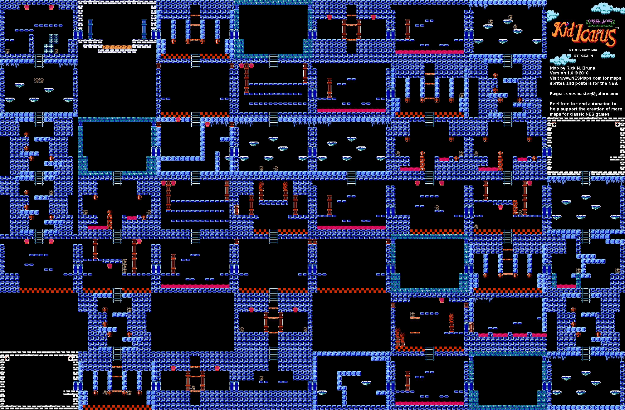 Kid Icarus - Stage 2-4 Map BG