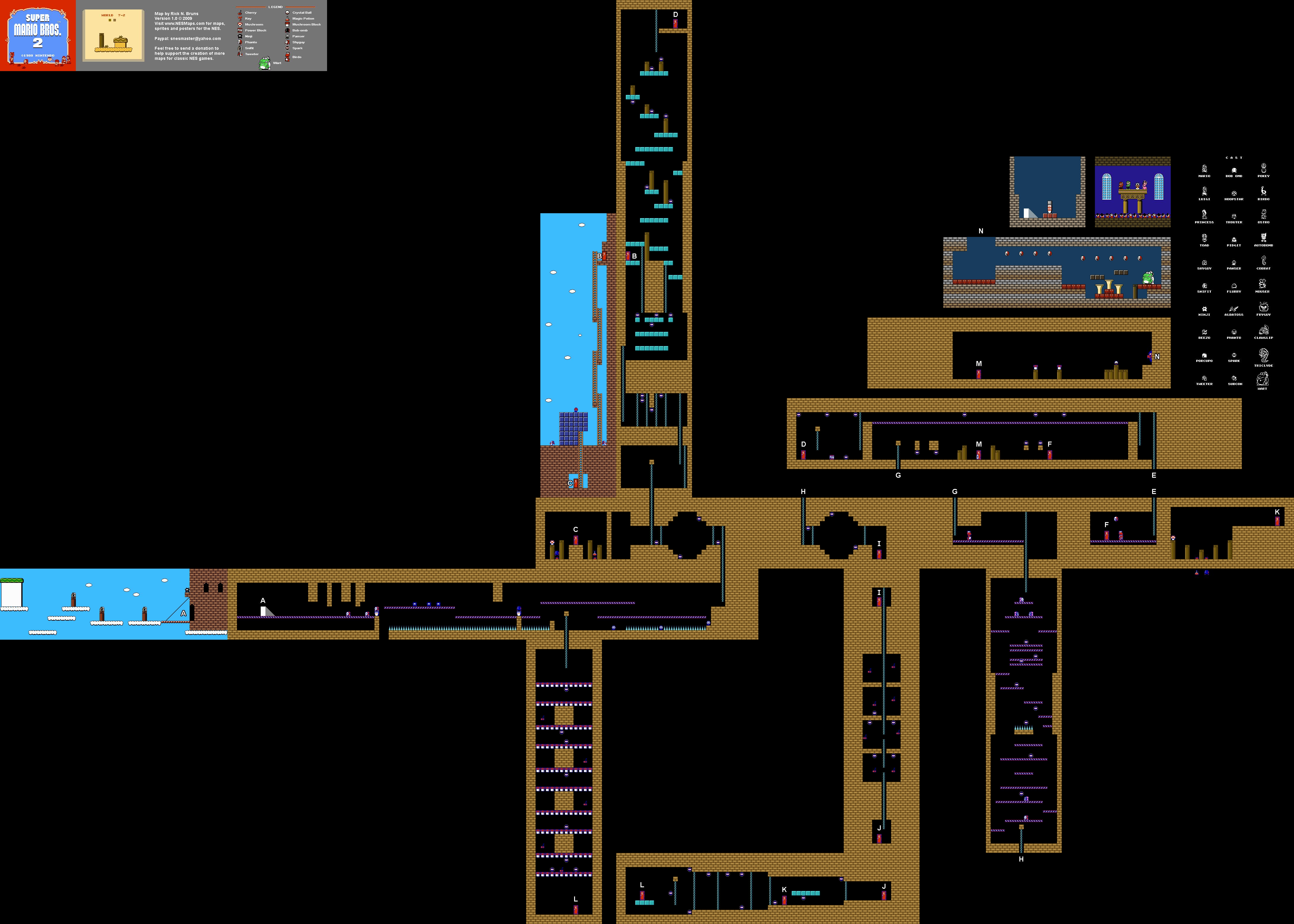 super mario bros nes map