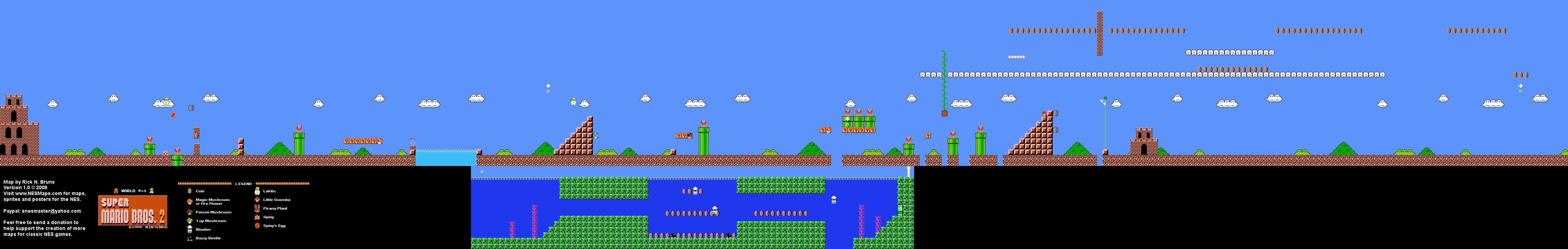 Super Mario Bros 2 Japan The Lost Levels World 4 1 Nintendo
