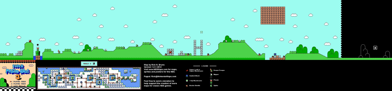 Super Mario Brothers  8 Nintendo Nes Map