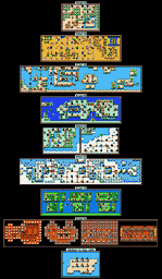 Super Mario Brothers 3 Map Selection - Labeled Maps
