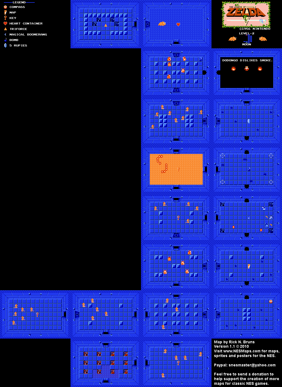 The Legend of Zelda - Level 2 Moon Quest 1 Map