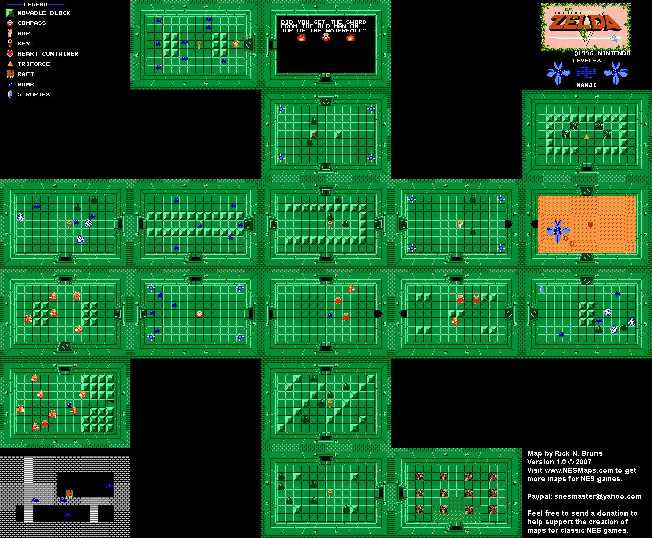 The Legend of Zelda - Level 3 Manji Quest 1 Map