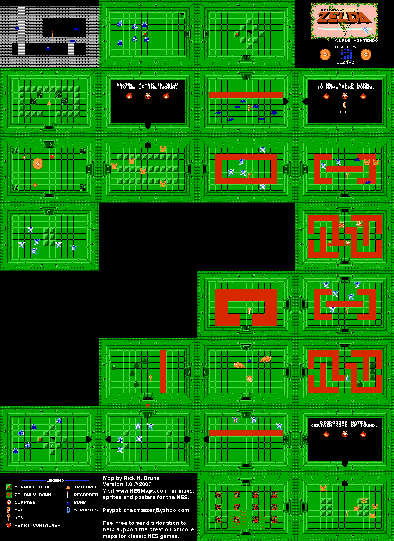 The Legend of Zelda - Level 5 Lizard Quest 1 Map