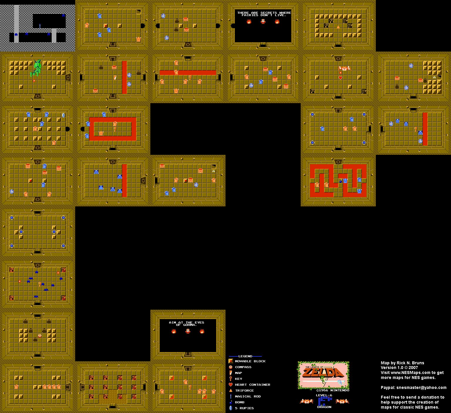The Legend of Zelda - Level 6 Dragon Quest 1 Map