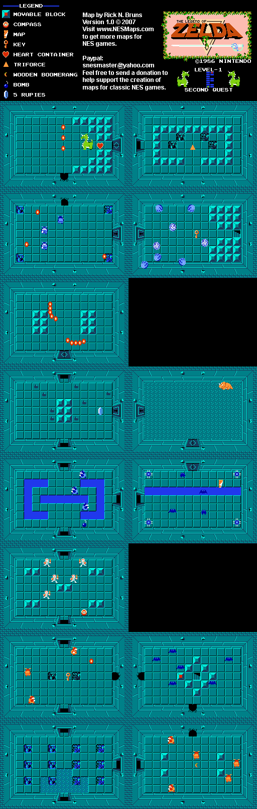 The Legend of Zelda - Level 1 Quest 2 Map