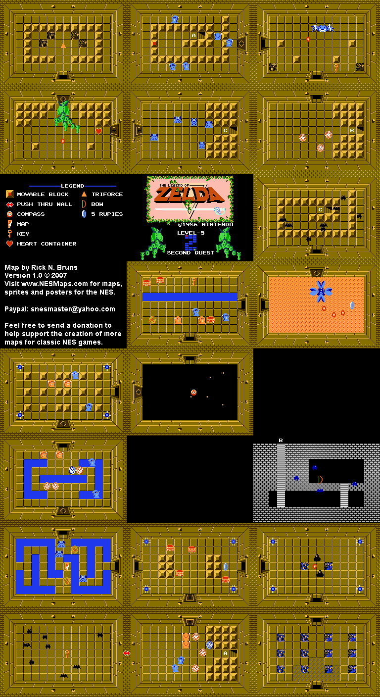 The Legend of Zelda - Level 5 Quest 2 Map on legend of zelda map, zelda wii u map, zelda map second level 2, zelda nes map, zelda spirit tracks map, zelda wind waker map, zelda hyrule map,