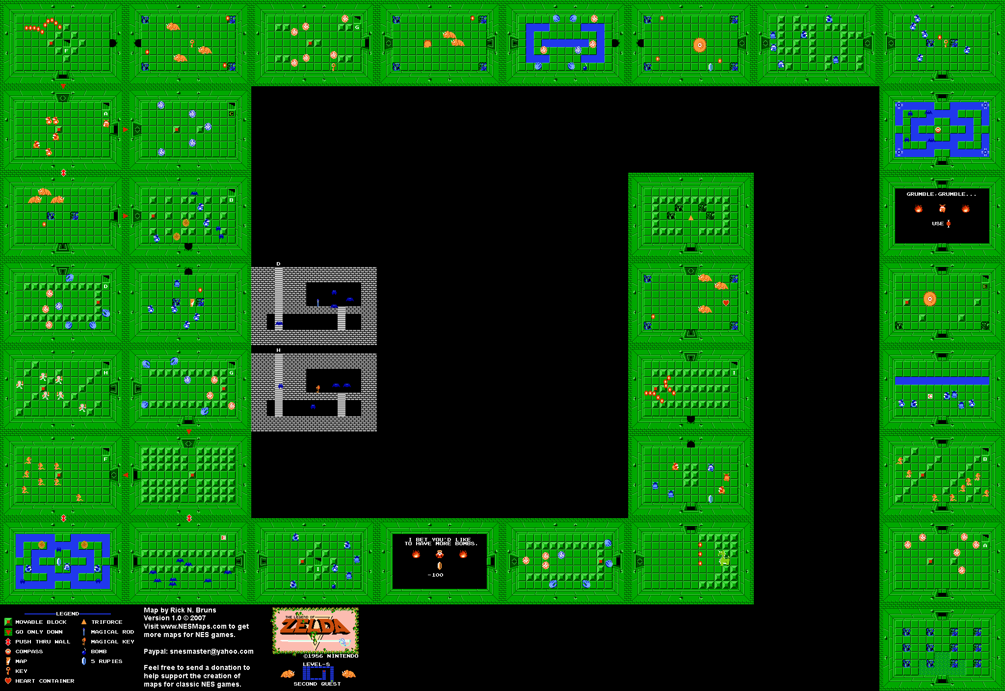 The Legend of Zelda - Level 8 Quest 2 Map on dragon quest nes map, super metroid full map, void a everquest map, star wars nes map, 360 the simpsons map, ninja turtles nes map, link nes map, rygar nes map, batman nes map, hyrule total war world map, castlevania nes map, metal gear nes map, mario nes map, metroid nes map, dragon quest 6 map, chrono trigger nes map, adventure of link map,
