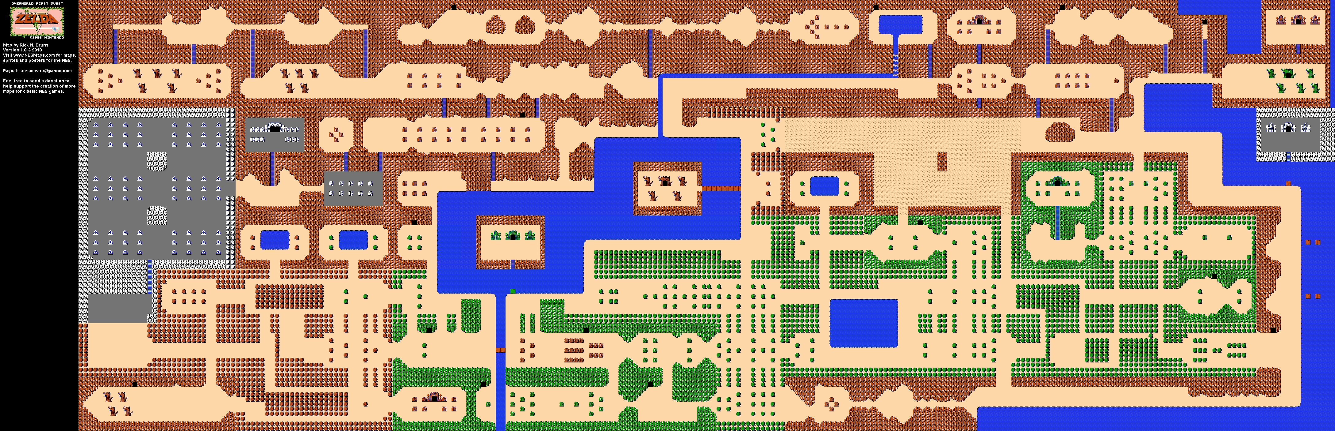 The Legend of Zelda - Overworld Quest 1 Map BG