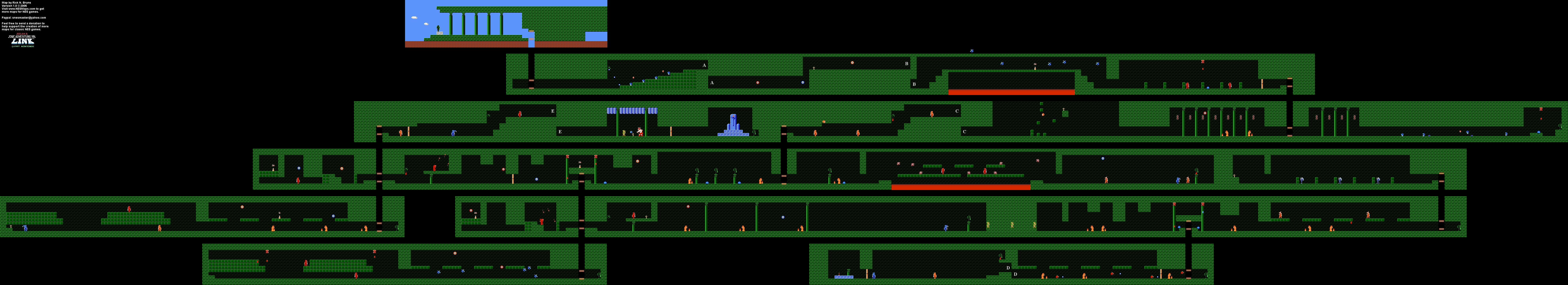 Zelda II - Palace on the Sea (Level 5) Map [31] on minish cap map, spirit tracks map, skyward sword map, castlevania map, warcraft ii map, metal gear map, metroid ii map, link ii map, oracle of ages map, twilight princess map, diablo ii map, super mario map, four swords adventures map, phantom hourglass map, majora's mask map, oracle of seasons map, wind waker map, dragon quest 2 map,